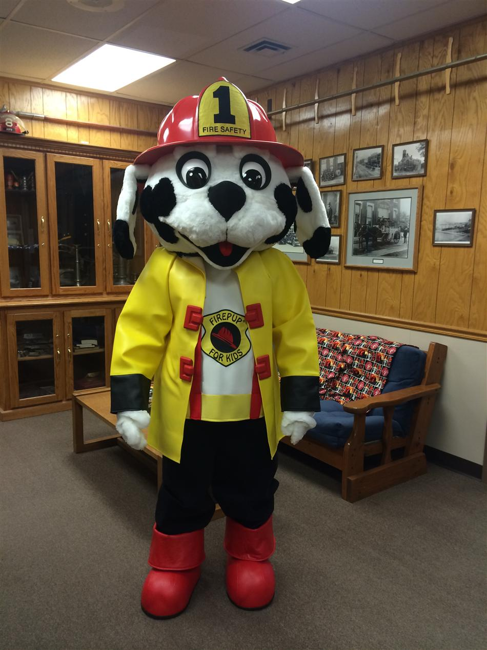 Fire Department Dalmatian Mascot